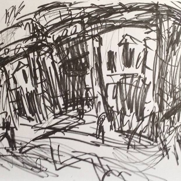 Hebden Bridge Picture House, Marker on Paper