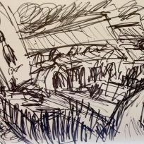 Haworth Church, Marker on Paper