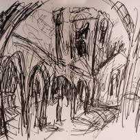 Heptonstall Old Church, Marker on Paper