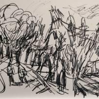 Heptonstall Graveyard, Marker on Paper