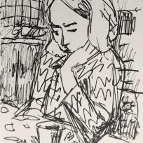 Helen, Marker on Paper