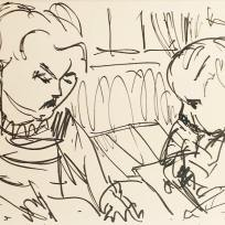 George Watcing Henry Drawing, Marker on Paper