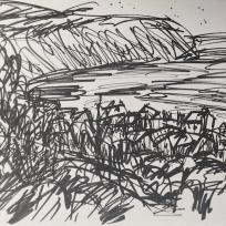 Robin Hoods Bay, Marker on Paper