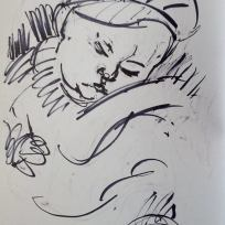 The Baby George, Marker on Paper