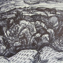 Above Hardcastle Craggs, Marker on Paper